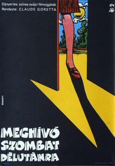 Meghívó szombat délutánra -  Hungarian vintage movie poster