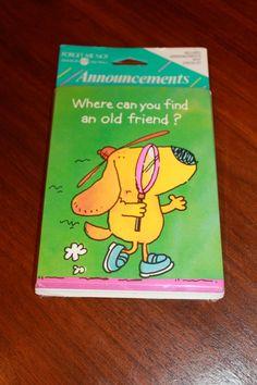 Vintage American Greetings Cards Envelopes Moving New Address Announcement Ephemera NOS by poetsy http://etsy.me/10DtHvT via @Etsy