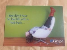 Marketing Postcard for a physiotherapist