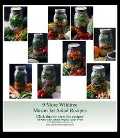 Ten Wildtree Mason Jar Salad Recipes ~ www.HealthyRecipesQuick.com