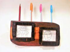 rustic pencil holder, rustic desk holder, office, wooden pen