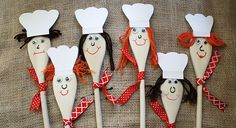 Try a wooden spoon craft for your child's chef-themed party. Your guests will enjoy making these wooden spoon chefs! Find more birthday party ideas on PBS Parents. Beach Party Games, Backyard Party Games, Baking Birthday Parties, Baking Party, Wooden Spoon Crafts, Wooden Spoons, Birthday Games, Birthday Party Themes, 21st Party