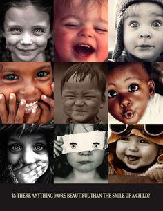 Collage No. 312 Smiles of Children.