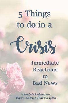 Crisis reactions to do