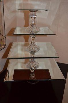 mirrored cupcake stand