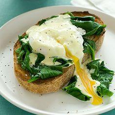 Eggs Benedict Florentine - low cal eggs benedict that is yummy!
