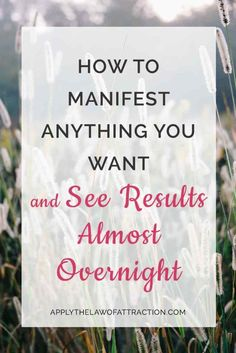 Find out how to manifest faster. Get insider tips and a free manifesting meditation to get results fast. See results almost overnight!