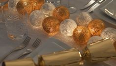 Gold and Silver Fairy Lights - Fairy Light Sets | Cable & Cotton. An alternative to Christmas lights, and these can be used all year round, and for a variety of occasions e.g. wedding or birthday