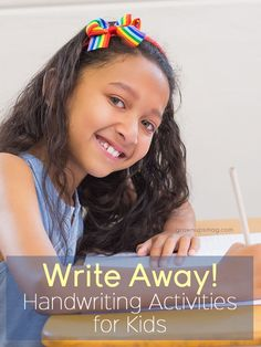 Write Away! Handwriting Activities for Kids - Grown Ups Magazine - These fine motor skill and handwriting activities can help your child develop a love of learning and build a foundation for good penmanship.