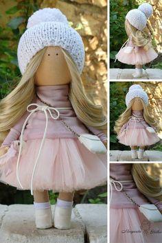 Textile doll Soft doll Rag doll Fabric doll Handmade doll Tilda doll Art doll…