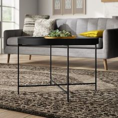 """Ebern Designs Kunigunde 69.29"""" H x 39.37"""" W Library Bookcase & Reviews   Wayfair Black Coffee Tables, Round Coffee Table, Papasan Chair, Yellow Area Rugs, Blue Area, End Tables, Bar Stools, Indoor, Living Room"""