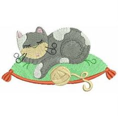 Cuddly Cats 06 machine embroidery designs