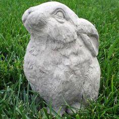 Dogs Cats Garden Statues : A Precious Concrete Bunny
