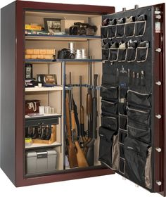 The Liberty Safe Presidential line provides top levels of fire protection and security. Choose this large fire safe for sale to protect what matters most. Weapon Storage, Gun Storage, Door Storage, Locker Storage, Gun Safe Room, Liberty Safe, Safes For Sale, Gun Rooms, Home Storage Solutions