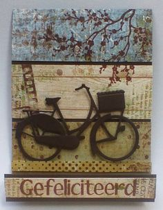 Marjoleine's blog: Varianten op de mannenkaarten van de aanschuifworkshop; ook met fiets!