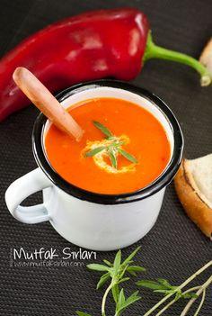 Közlenmiş Kırmızı Biber Çorbası | Mutfak Sırları