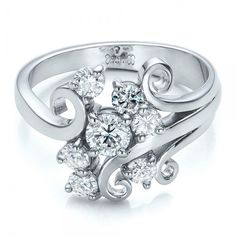 Custom Diamond Cluster Engagement Ring | Joseph Jewelry | Bellevue | Seattle | Online | Design Your Own Ring