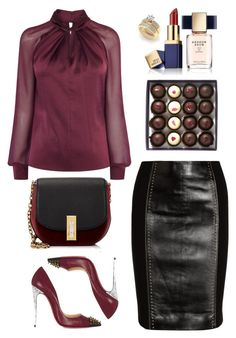 """""""238. *.*"""" by milva-bg ❤ liked on Polyvore featuring Versace, Estée Lauder, Marc Jacobs and Christian Louboutin"""