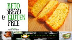 Bread that is KETO diet friendly,  low carbohydrates & gluten free. #ketobread #ketodietrecipe #glutenfreebread #healthbreadrecipe