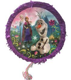 Super leuke #Frozen Pull-Pinata opdruk van de welbekende tekenfiguren Elsa, Anna en Olaf .