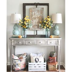 I wanted to switch things up in the living room for fall, so I took everything off the console table, and started the same way I always do: with an old window... Tutorial for the Hello Fall Sign #ontheblog today! #bhghome #countryliving #myhousefavorites #modernfarmhouse #fixerupperstyle #fall #falldecor #favoritespace #inspirememonday #homeforthefallidays #transformationtuesday