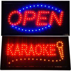 Bright Karaoke Singing KTV BAR Restaurant LED & Open Business Store Sign…