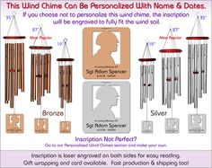 Biblical Memorial Wind Chime The Perfect Personalized Sympathy Gift