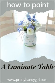 A table that will be used daily needs a paint that is durable and can withstand spills. Follow this tutorial to see my suggestions and process!