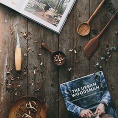 The Urban Woodsman Book - A Modern Guide to Carving Spoons, Bowls and Boards by Max Bainbridge of Forest and Found.