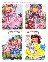 Judy's Place offering Paper Dolls including Dress Up Paper Dolls, Vintage Paper Dolls, and Celebrity Paper Dolls. Vintage Greeting Cards, Vintage Postcards, Vintage Images, Pretty Images, Cute Images, Doll Painting, Vintage Paper Dolls, Children Images, Free Paper