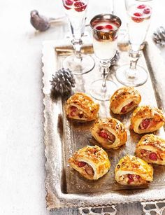 Cranberry and pork crackling sausage rolls | From Debbie Major these are the ULTIMATE sausage rolls. Impress all your guests this festive season.