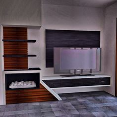 Modern Interior design tv unit for an open lounge room