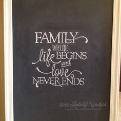Creating Handwritten Chalkboard Quotes with Repositionable Adhesive | The Crafty Power Blog