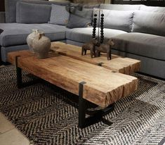 Coffee table solid teak with black steel frame - Small furniture - Collection -. - Einrichtungsideen - Coffee table solid teak with black steel frame Small Furniture Collection – - Decor, Furniture, Home Living Room, Furniture Decor, Rustic Furniture, Home Decor, House Interior, Home And Living, Home Decor Furniture