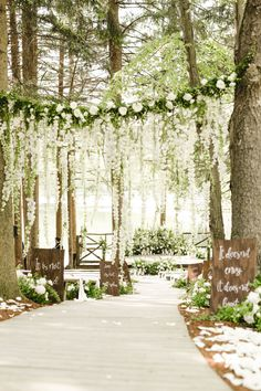 floral and event design Wedding Ceremony Ideas, Woodsy Wedding, Outdoor Wedding Decorations, Outdoor Wedding Venues, Outdoor Ceremony, Wedding In The Woods, Dream Wedding, Decor Wedding, Wedding Stuff