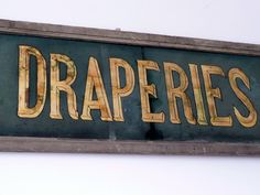 French glass painted shop sign refinery hotel, shop signs, diy s