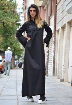 Elegant Black Dress Oversize Long Winter Dress Plus Size Caftan Dress, Kaftan, Plus Size Dresses, Plus Size Outfits, Long Winter Dresses, Plus Size Fashion For Women, Black Maxi, Hoodie Dress, Unique Dresses