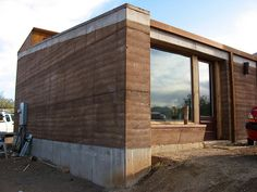 Rammed Earth House - Finished House Section