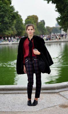 Tartan trend, Paris Fashion Week, #PFW #SS2014, image by StunningStreetstyle