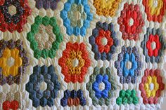 Grandmother's Flower Garden  is my favoirite quilt pattern, it has special meaning to me because of the quilt my mother gave me that as ...