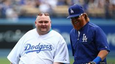 Sean O'Brien threw out the first pitch at a baseball game