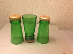 Five shot glasses crafted from a Yuengling beer bottle.. $20.00, via Etsy. CLEVER!