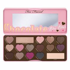 Too Faced The Chocolate Bon Bons Heart-shaped Style16 Colors Eyeshadow Palette Cosmetic Makeup Tool Pink