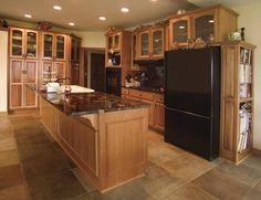 Countertops for Hickory Cabinets | Hickory Cabinets with granite countertops | Yelp