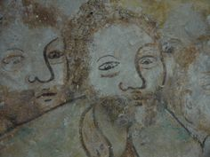 Restoring midieval mural paintings (1530) at church of Garmerwolde, Groningen, The Netherlands. Restoring project: april - november 2013 www.bouwhuisjourn... + Lut Gielen