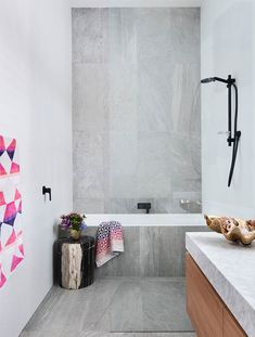 Were currently obsessing over these beautiful interiors which feature accessories! - Architecture and Home Decor - Bedroom - Bathroom - Kitchen And Living Room Interior Design Decorating Ideas - Grey Marble Tile, Marble Top, Timber Vanity, Interior Styling, Interior Design, Room Interior, Edwardian House, Victorian Terrace, Bathroom Inspiration