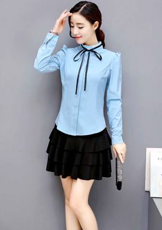 Girls Ladies Stylish Two Pleat Layered RARA Stretch School Office Formal Skirt