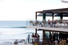 ...sitting down and drinking up @ Pacific Ocean views from the new Merewether Surfhouse.