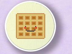 Yummy Waffle. Cross Stitch PDF Pattern by andwabisabi on Etsy