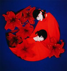 Yamaguchi Sayoko 山口 小夜子 (1949-2007) for Shiseido 資生堂 - Design by Serge Lutens - Japan - 1980s
